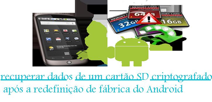 Como recuperar dados de um cartão SD criptografado após a redefinição de fábrica do Android