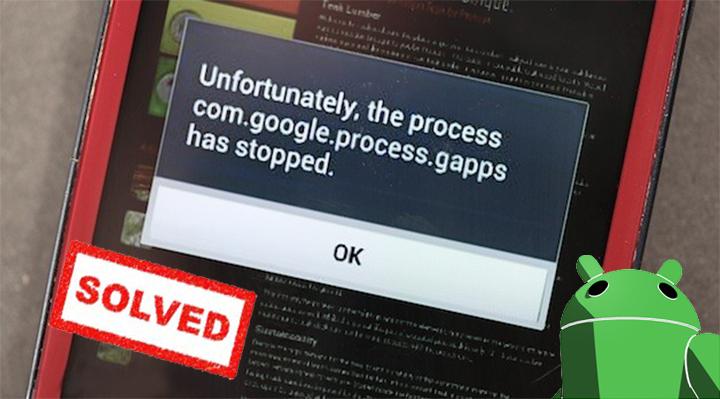 """[100% resolvido]: Android """", infelizmente, o processo com.google.process.gapps parou"""" Mensagem de erro"""