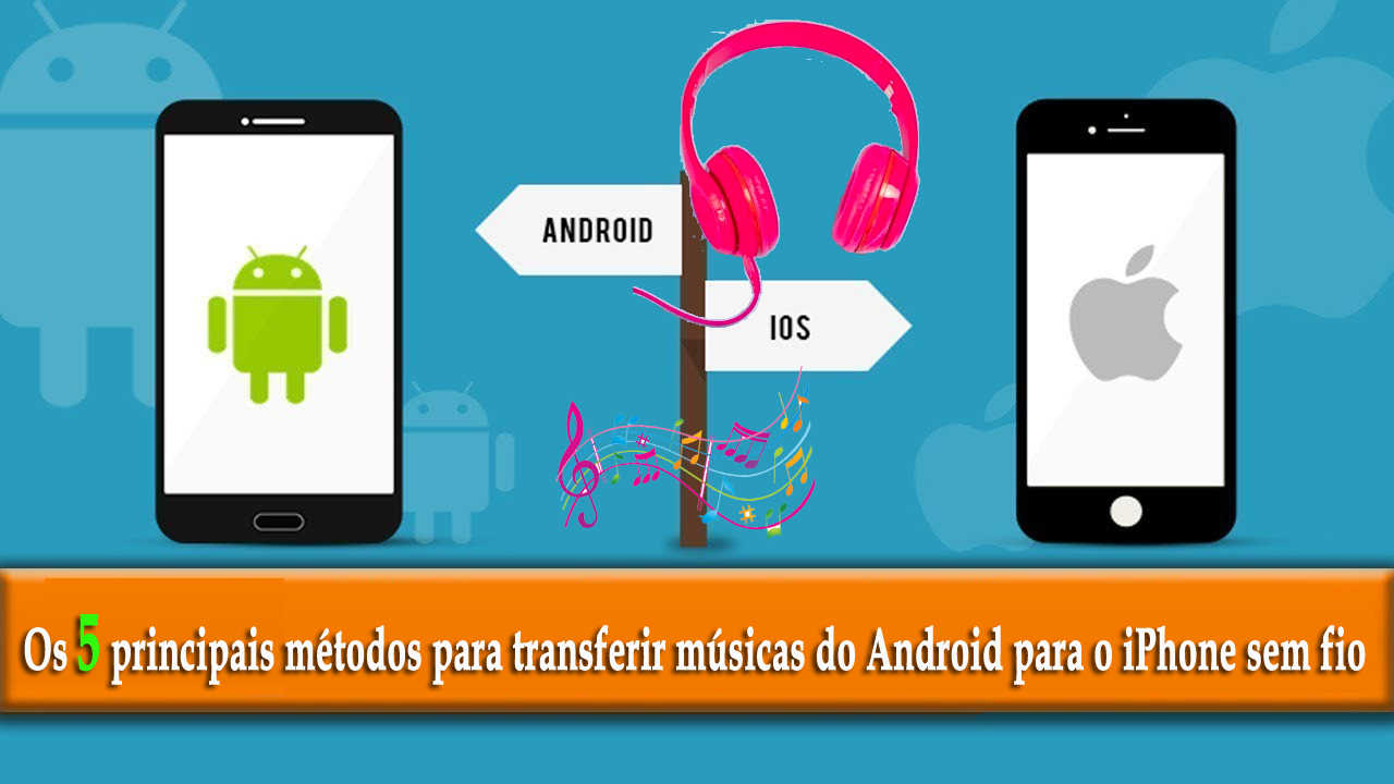 transferir músicas do Android para o iPhone sem fio