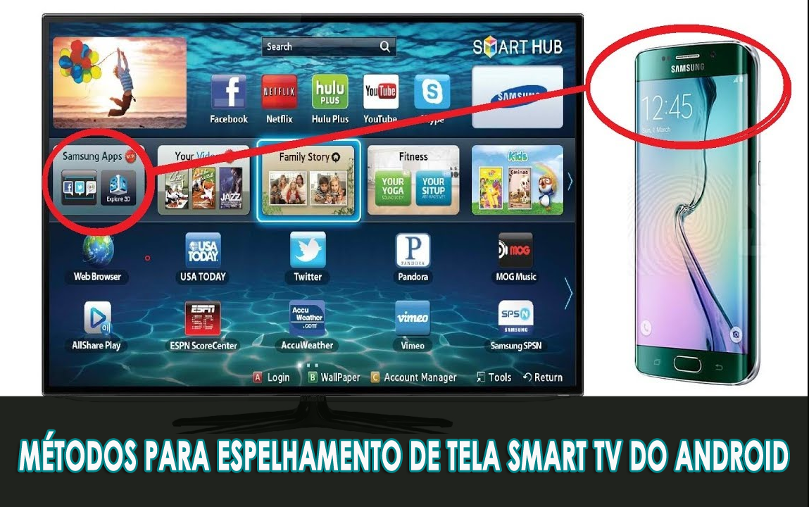 Métodos para Espelhamento de tela Smart TV do Android
