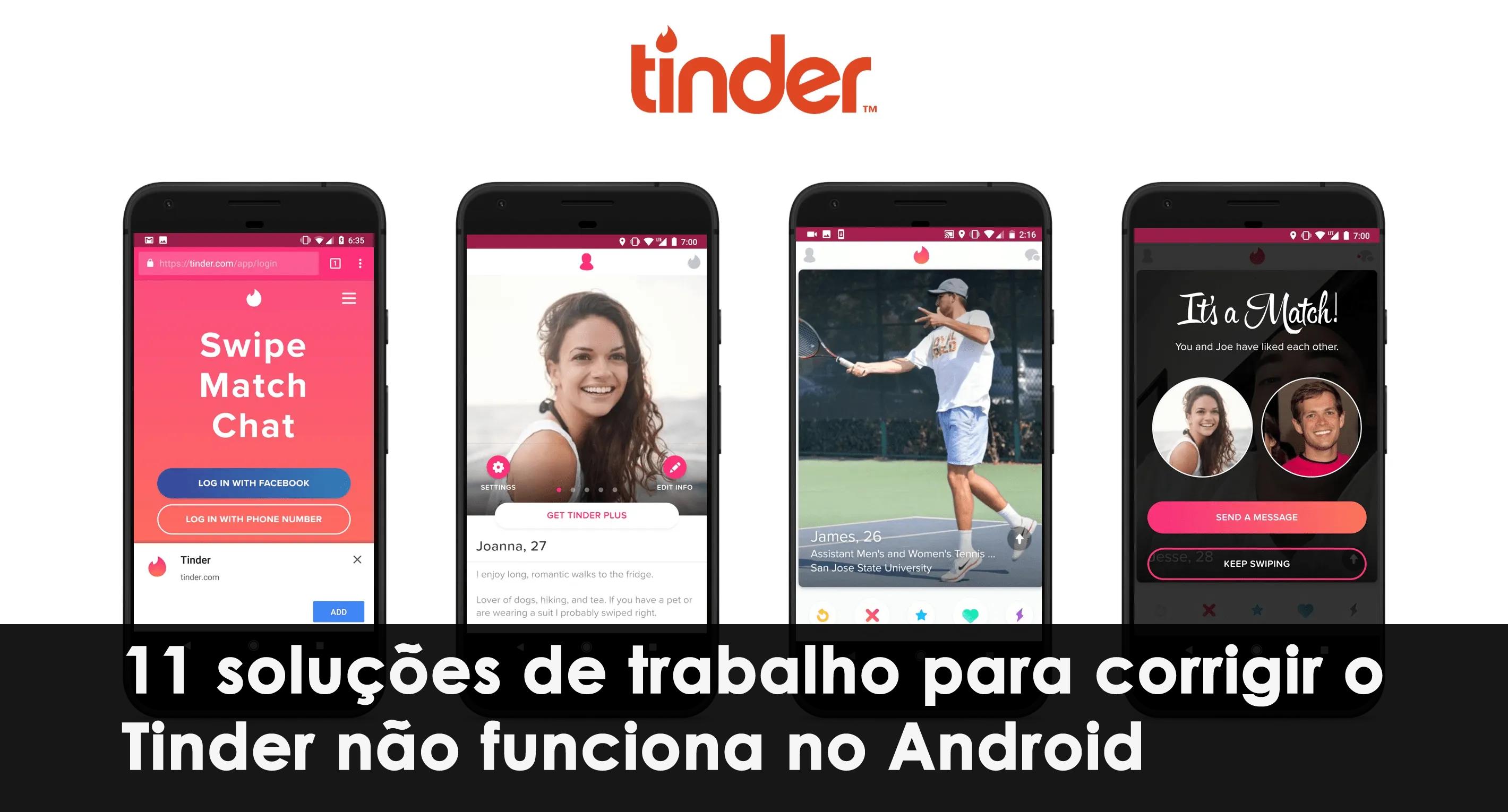 corrigir o Tinder não funciona no Android
