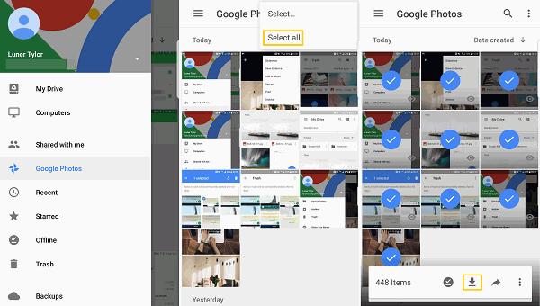 transfira fotos do Android para o Android usando o Google