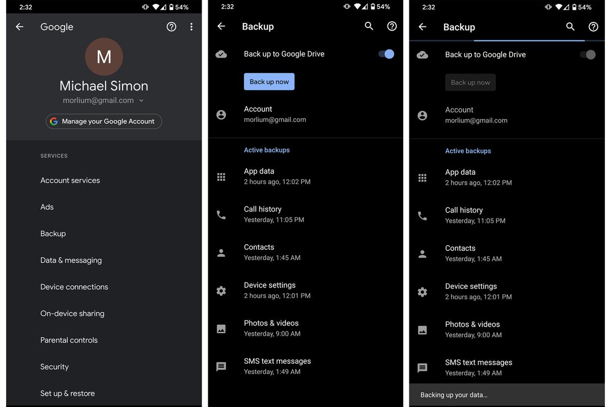 como transferir fotos do Android para o Android