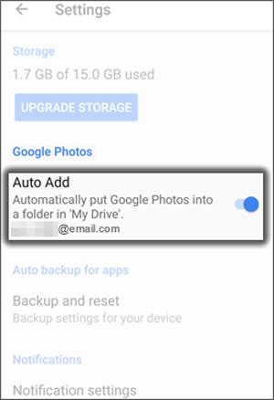transferir fotos do Android