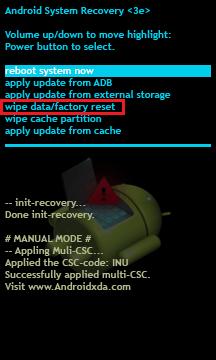 como sair do modo de recuperação do sistema Android