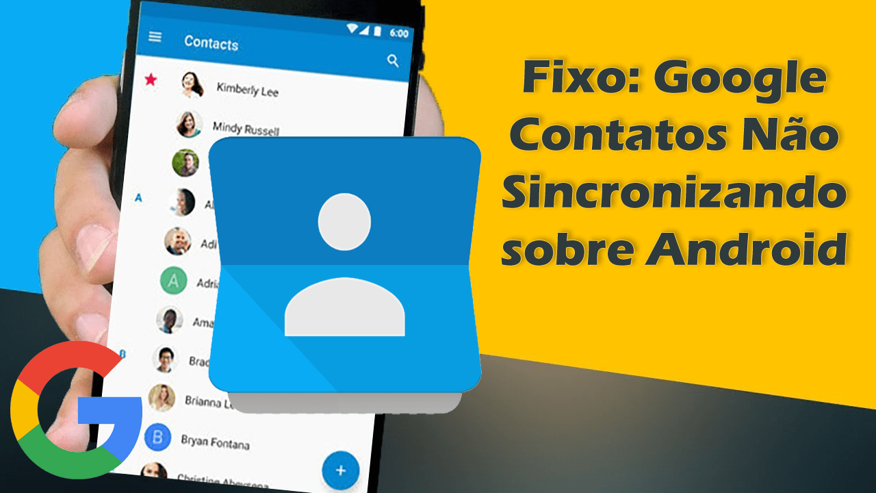 contatos do google não sincronizando no Android