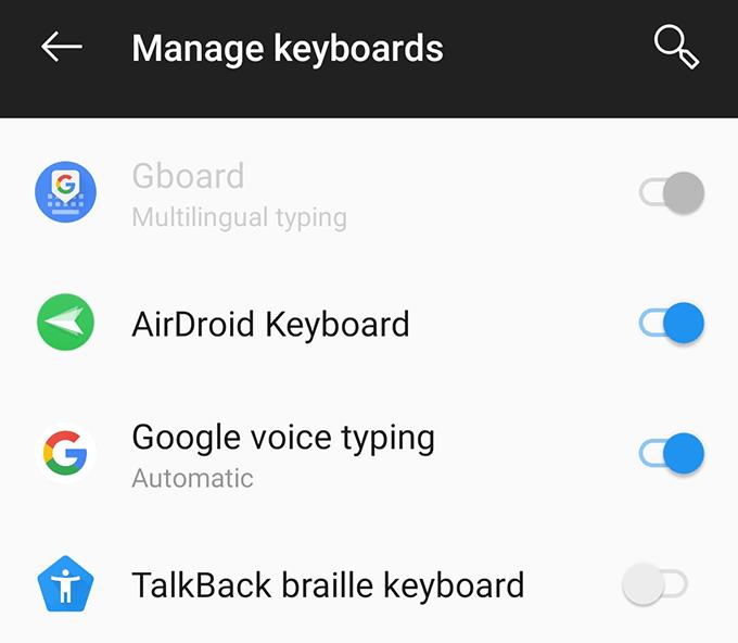 Gboard não funcionamento erro no dispositivo Android