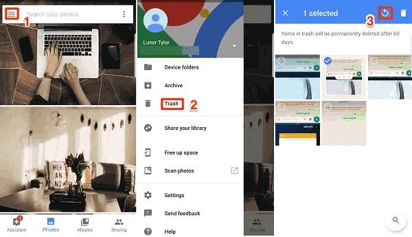 Recuperar Google Nexus fotos excluídas vídeo A partir de Google Photos